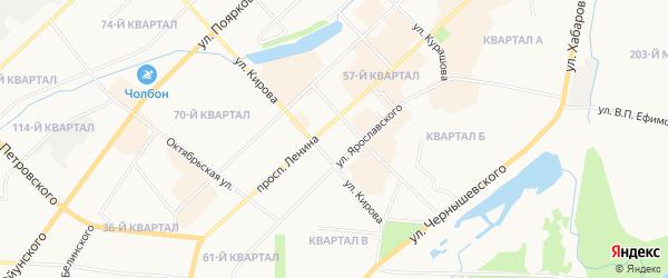 Остров Бельгечех на карте Якутска с номерами домов
