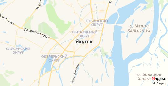 Карта Якутска с улицами и домами подробная. Показать со спутника номера домов онлайн