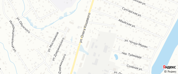 Цветочная улица на карте микрорайона Мархи с номерами домов