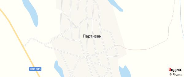 Карта села Партизана в Якутии с улицами и номерами домов