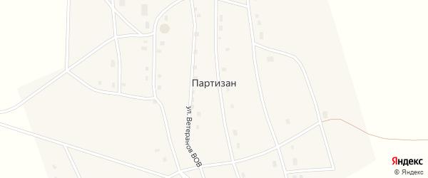Улица В.А.Яковлева на карте села Партизана Якутии с номерами домов