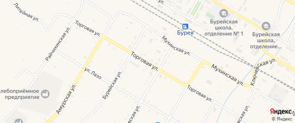 Улица Тургенева на карте поселка Буреи с номерами домов