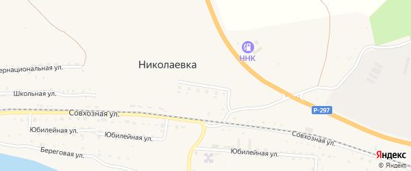 Кулустайская улица на карте села Николаевки с номерами домов