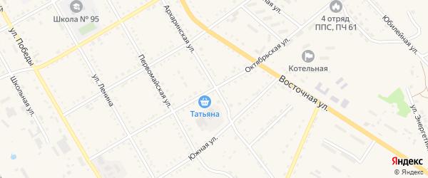 Октябрьская улица на карте поселка Архары с номерами домов