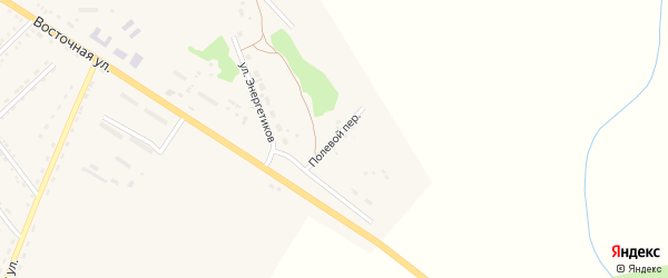 Полевой переулок на карте поселка Архары с номерами домов