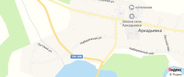 Набережная улица на карте села Аркадьевки Амурской области с номерами домов