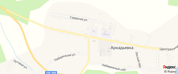 Паромная улица на карте села Аркадьевки Амурской области с номерами домов