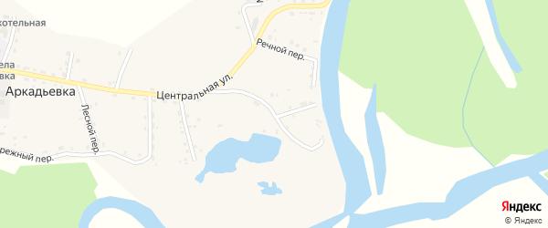 Озерная улица на карте села Аркадьевки Амурской области с номерами домов