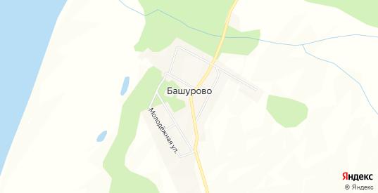 Карта села Башурово в Еврейской автономной области с улицами, домами и почтовыми отделениями со спутника онлайн