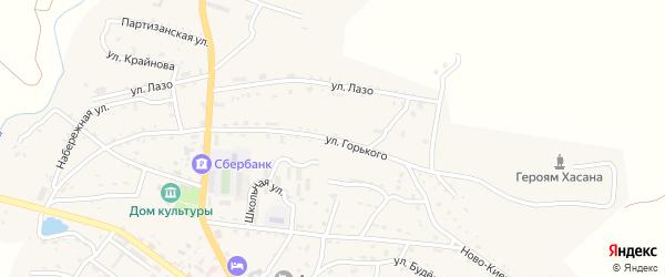 Улица Горького на карте поселка Краскино Приморского края с номерами домов