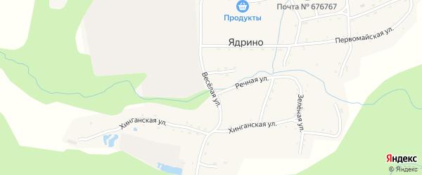 Веселая улица на карте села Ядрино с номерами домов