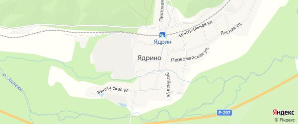 Карта села Ядрино в Амурской области с улицами и номерами домов