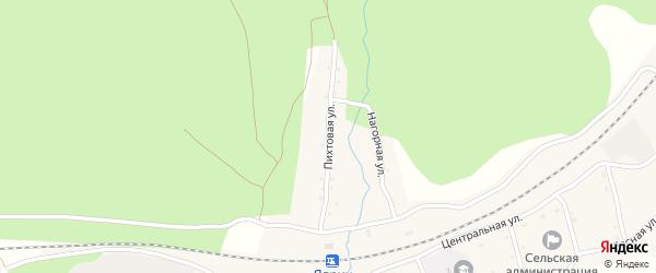 Пихтовая улица на карте села Ядрино Амурской области с номерами домов