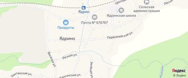 Первомайская улица на карте села Ядрино с номерами домов