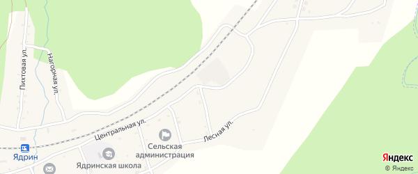 Пионерская улица на карте села Ядрино с номерами домов