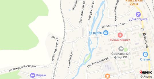 Линейная улица в Облучье с номерами домов на карте. Спутник и схема онлайн