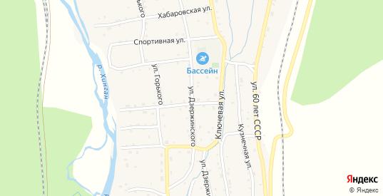 Улица Дзержинского в Облучье с номерами домов на карте. Спутник и схема онлайн