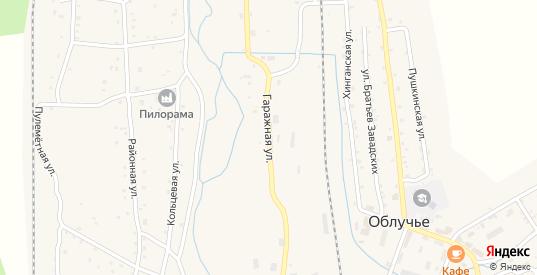 Гаражная улица в Облучье с номерами домов на карте. Спутник и схема онлайн