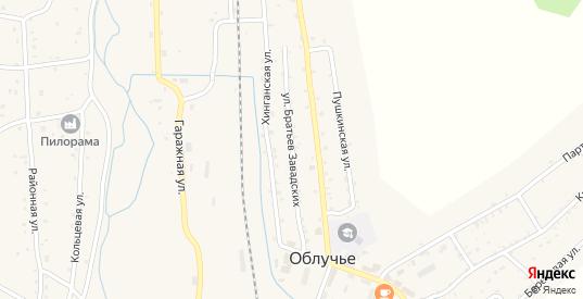 Улица Братьев Завадских в Облучье с номерами домов на карте. Спутник и схема онлайн