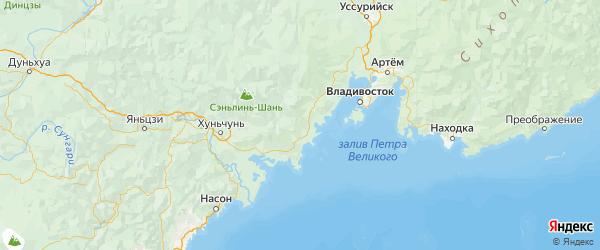 Карта Хасанского района Приморского края с городами и населенными пунктами