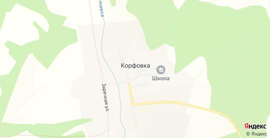 Карта села Корфовка в Уссурийске с улицами, домами и почтовыми отделениями со спутника онлайн
