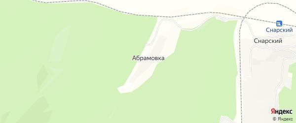 Карта села Абрамовки в Еврейской автономной области с улицами и номерами домов