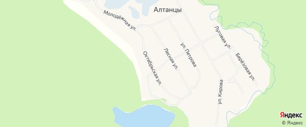 Карта села Алтанцы в Якутии с улицами и номерами домов