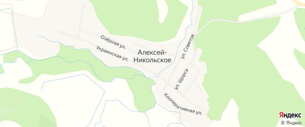 Карта Алексея-Никольского села города Уссурийска в Приморском крае с улицами и номерами домов