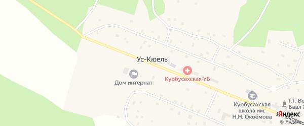 Улица Н.Е.Ермолаева на карте села Уса-Кюеля Якутии с номерами домов