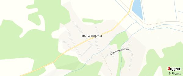 Карта села Богатырки города Уссурийска в Приморском крае с улицами и номерами домов