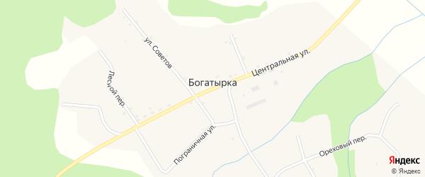 Полевой переулок на карте села Богатырки с номерами домов