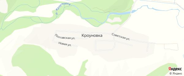 Карта села Кроуновки города Уссурийска в Приморском крае с улицами и номерами домов