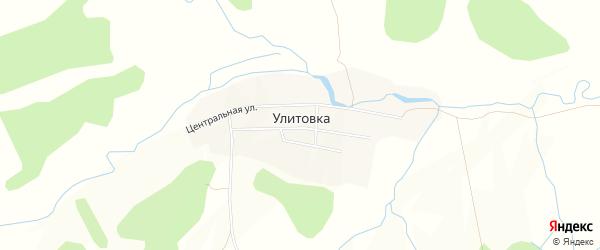 Карта села Улитовки города Уссурийска в Приморском крае с улицами и номерами домов