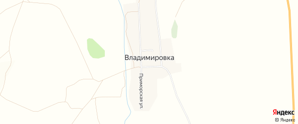 Карта села Владимировки в Приморском крае с улицами и номерами домов