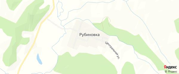 Карта села Рубиновки в Приморском крае с улицами и номерами домов