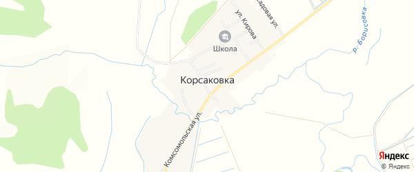 Карта села Корсаковки города Уссурийска в Приморском крае с улицами и номерами домов