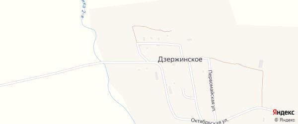 Степная улица на карте Дзержинского села Приморского края с номерами домов