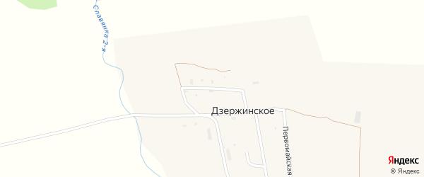 Комсомольская улица на карте Дзержинского села Приморского края с номерами домов