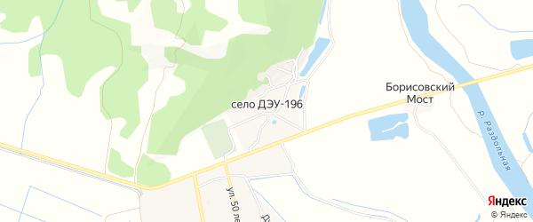 Карта села ДЭУ-196 города Уссурийска в Приморском крае с улицами и номерами домов