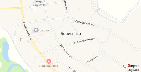 Вишневая улица в селе Борисовка в Уссурийске с номерами домов на карте. Спутник и схема онлайн
