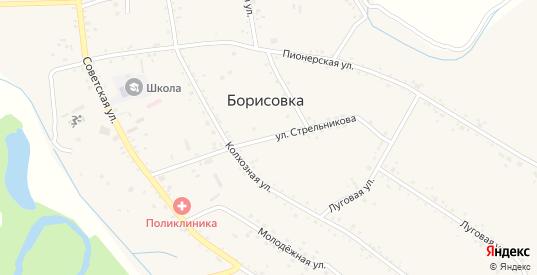 Улица Стрельникова в селе Борисовка в Уссурийске с номерами домов на карте. Спутник и схема онлайн