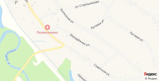 Молодежная улица в селе Борисовка в Уссурийске с номерами домов на карте. Спутник и схема онлайн