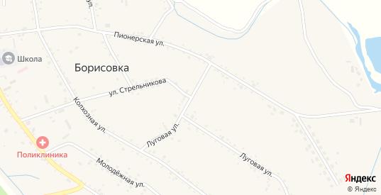 Луговая улица в селе Борисовка в Уссурийске с номерами домов на карте. Спутник и схема онлайн