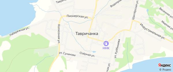 Карта поселка Тавричанки в Приморском крае с улицами и номерами домов
