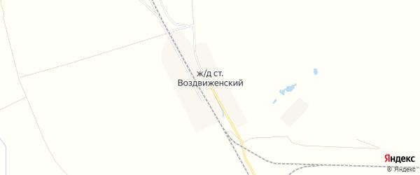 Карта железнодорожной станции Воздвиженского города Уссурийска в Приморском крае с улицами и номерами домов