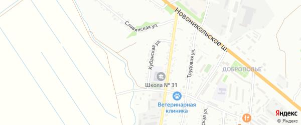 Кубанская улица на карте Уссурийска с номерами домов