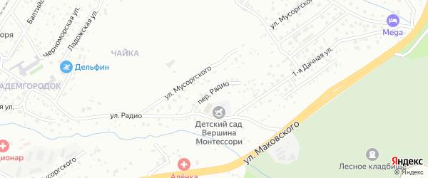 Переулок Радио на карте Владивостока с номерами домов