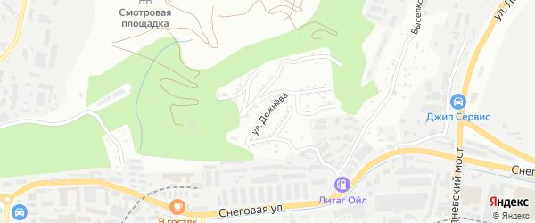 Улица Дежнева на карте Владивостока с номерами домов