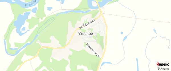 Карта Утесного села города Уссурийска в Приморском крае с улицами и номерами домов