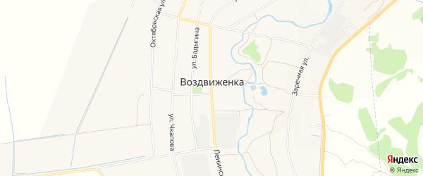 Карта села Воздвиженки города Уссурийска в Приморском крае с улицами и номерами домов